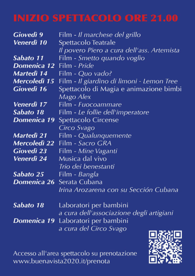 Marino. Festa cultura solidarietà dal 9 al 26 luglio