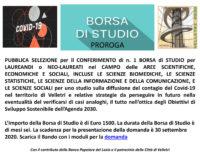 PROROGA  BANDO BORSA DI STUDIO VELLETRI 2030 – SCADENZA 30  SETTEMBRE 2020