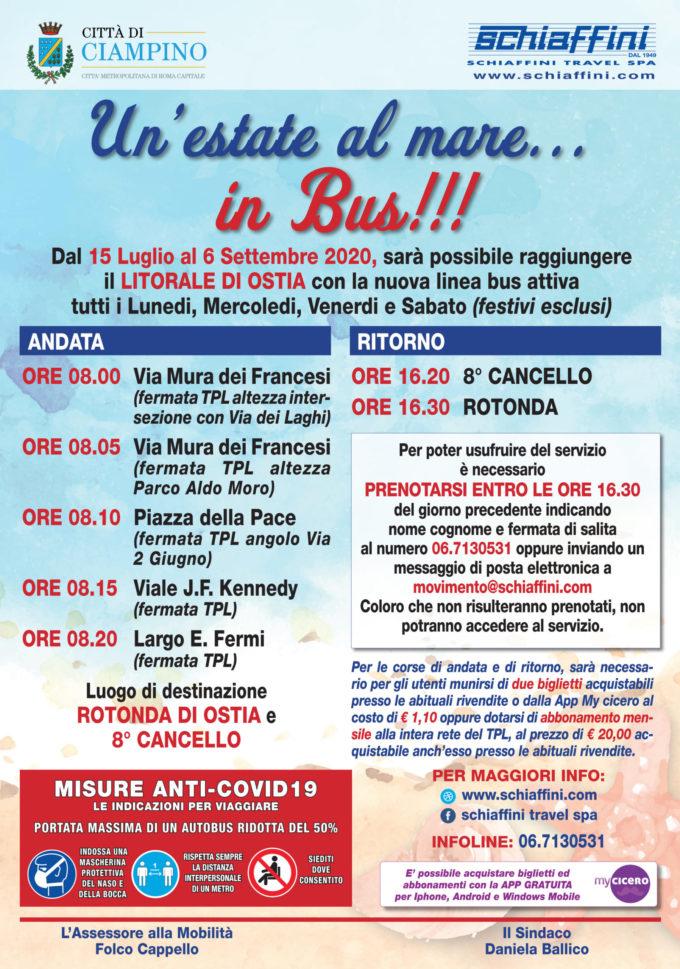"""RIPARTE IL BUS PER IL MARE, TORNA L'INIZIATIVA """"UN'ESTATE AL MARE… IN BUS"""""""
