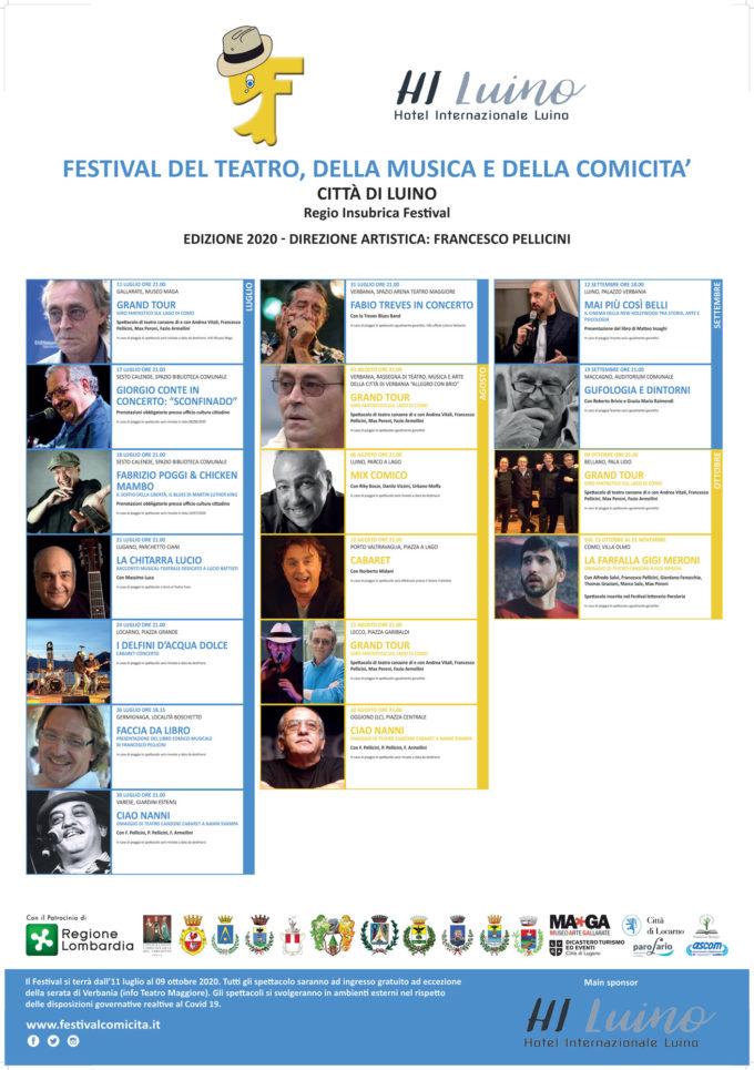 Festival del Teatro, della Musica e della Comicità  Città di Luino Terre Insubri in tour 2020