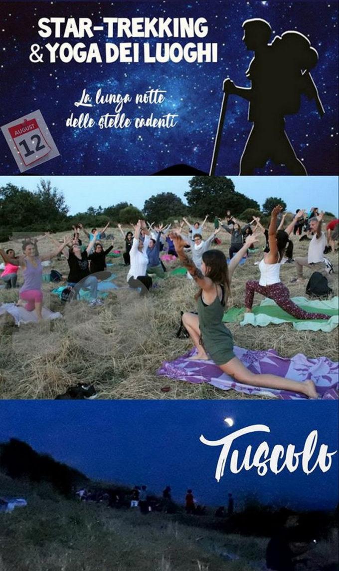 STAR-TREKKING & YOGA dei LUOGHI sul Monte TUSCOLO: la lunga nottedelle stelle cadenti!