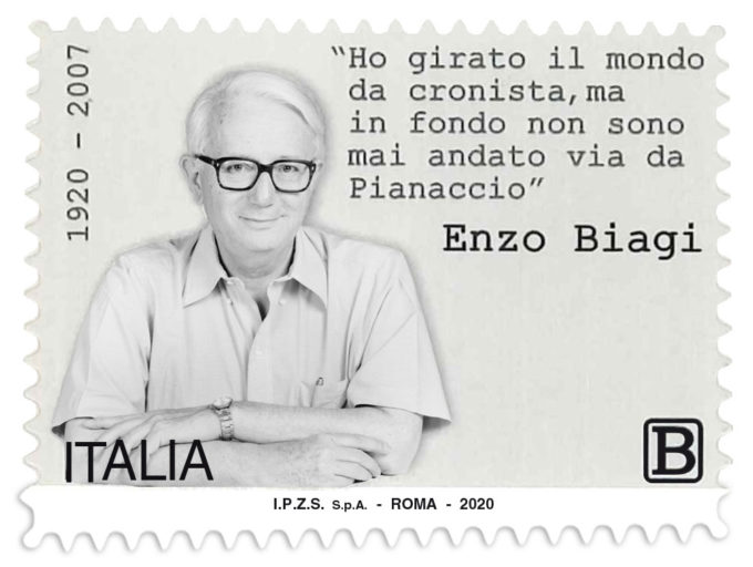 Emissione francobollo Enzo Biagi