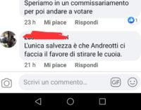 HATERS IN LIBERTÀ AUGURANO LA MORTE AL SINDACO ANDREOTTI
