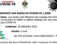 VELLETRI – BANDO BORSA DI STUDIO SCADENZA 30 SETTEMBRE