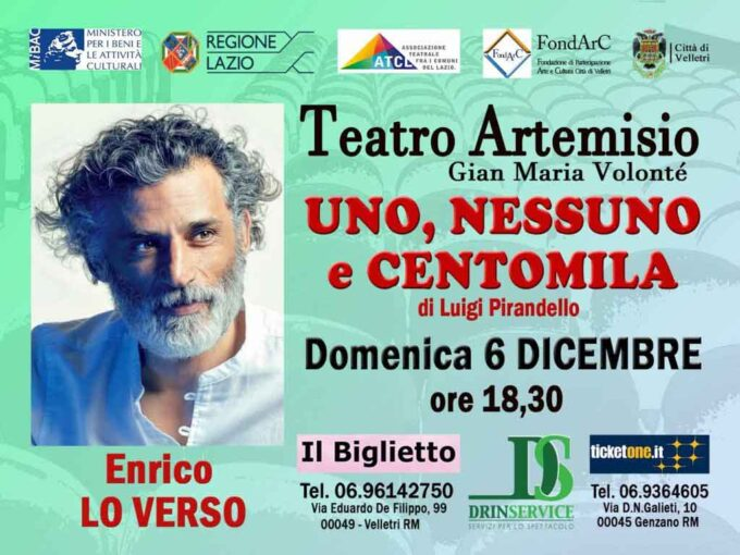 """Teatro Artemisio-Volontè, informativa per gli spettacoli """"Maurizio IV"""" e """"Uno, nessuno e centomila"""""""