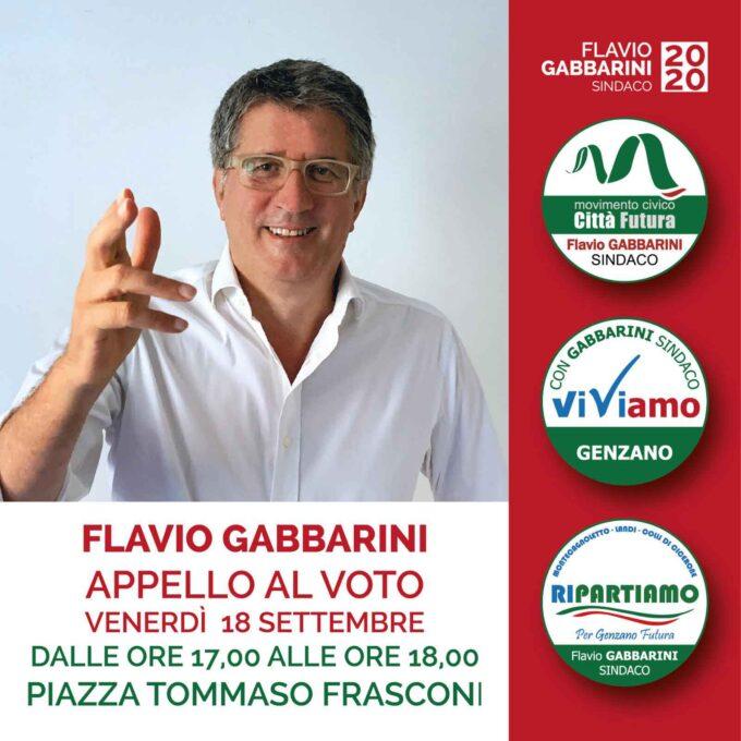 Ultimo appello al voto di Flavio Gabbarini da piazza Tommaso Frasconi alle ore 17