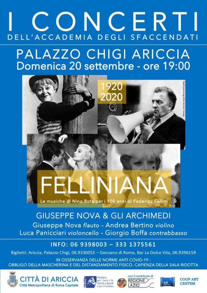 """Riprendono i Concerti degli """"Sfaccendati"""" al Palazzo Chigi di Ariccia"""