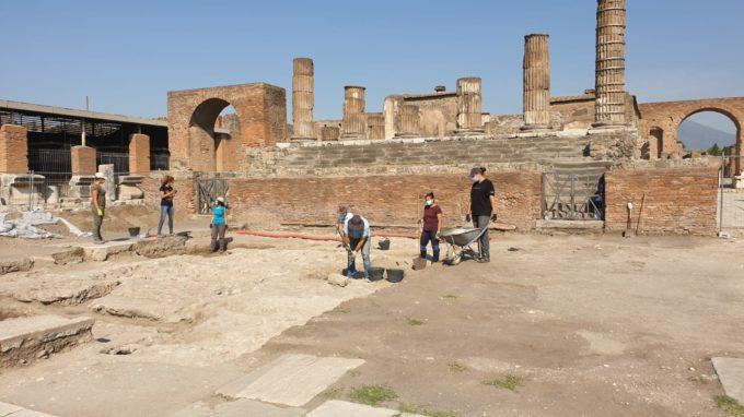 POMPEI – INDAGINI ARCHEOLOGICHE NELL'AREA DEL FORO e AL TEMPIO DI GIOVE