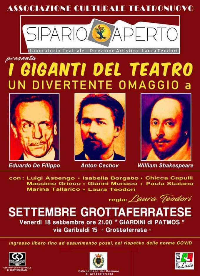 I Giganti del Teatro al Settembre Grottaferratese