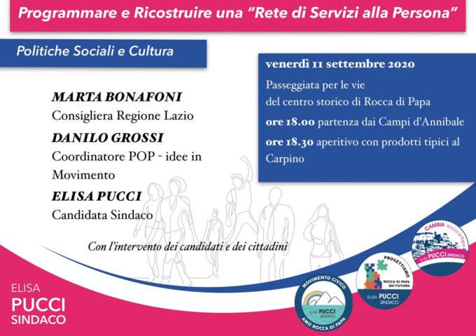 Marta Bonafoni a Rocca di Papa con la candidata a Sindaco Elisa Pucci