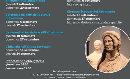 Settembre al Museo Archeologico Lavinium
