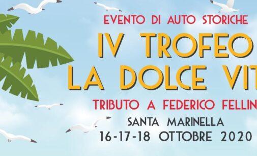 Auto d'epoca, torna il Trofeo 'La Dolce Vita' – Al via dal 16 al 18 ottobre la quarta edizione, con tributo a Federico Fellini e in sostegno dell'Ospedale Pediatrico Bambin Gesù