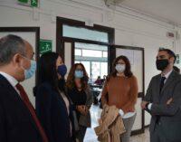 La Ministra Azzolina in visita all'Istituto Copernico di Pomezia