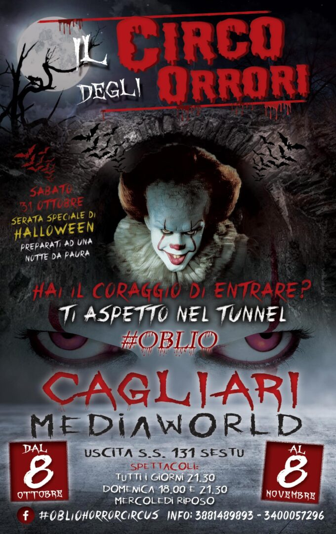 Cagliari: Fiato sospeso e tremendo divertimento con Oblio Horror Circus