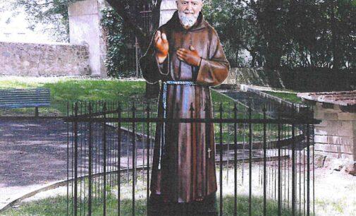 Grottaferrata. La storia infinita della statua di Padre Pio.