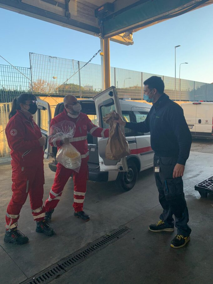 Lotta agli sprechi, la Croce Rossa di Pomezia