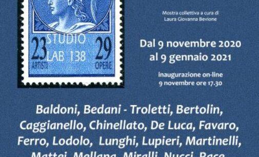 Cartoline e francobolli d'artista a Studio Lab 138
