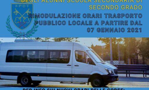 Frascati, rimodulato il Trasporto Pubblico Locale per la ripresa delle attività scolastiche