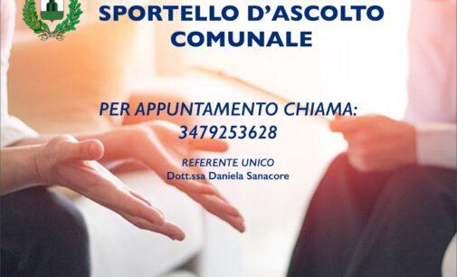 MONTE COMPATRI – SPORTELLO D'ASCOLTO COMUNALE: DAL 1° FEBBRAIO