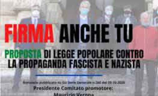MARINO – FIRMA ANCHE TU  La Proposta di legge popolare contro la propaganda fascista e nazista
