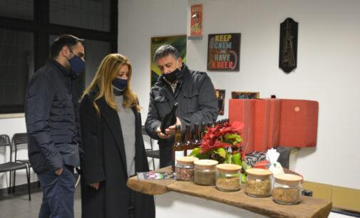 Il Sindaco visita il birrificio Oxiana di Pomezia