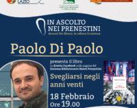 """Con Paolo Di Paolo l'ultimo appuntamento de """"In ascolto nei Prenestini"""""""