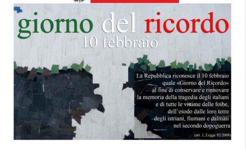 10 FEBBRAIO, GIORNO DEL RICORDO: IL SINDACO ANDREOTTI SCRIVE ALLE SCUOLE