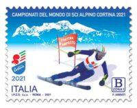 Emissione francobollo Campionati del mondo di sci alpino Cortina d'Ampezzo