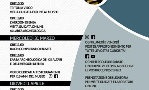 #laculturanonsiferma 31 marzo 2021. 16° compleanno del Museo civico archeologico Lavinium
