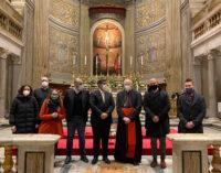L'azienda corese Vis Electrica sul campanile di Santa Maria in Monserrato degli Spagnoli a Roma