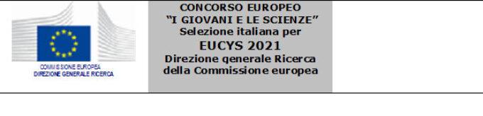 """Concorso europeo """"I giovani e le scienze 2021"""""""