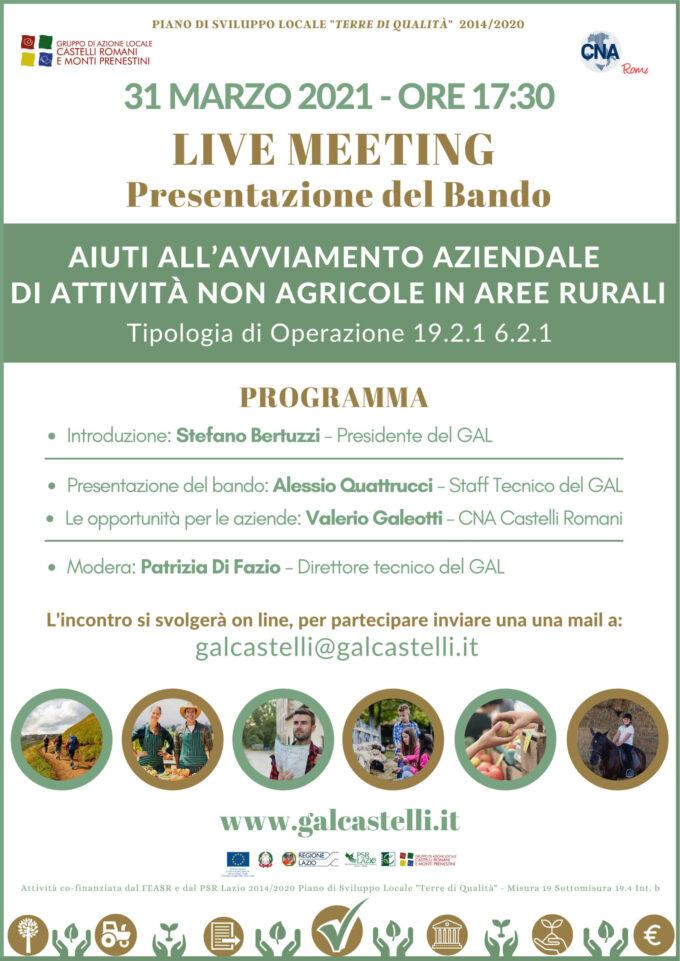 Bando del GAL Castelli Romani e Monti Prenestini