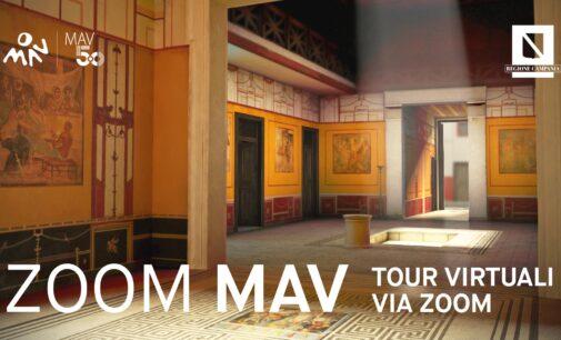 MAV – Dal mese di marzo Tour virtuali via Zoom: ERUZIONI VESUVIANE – LUSSO E VILLE NEL GOLFO DI NAPOLI