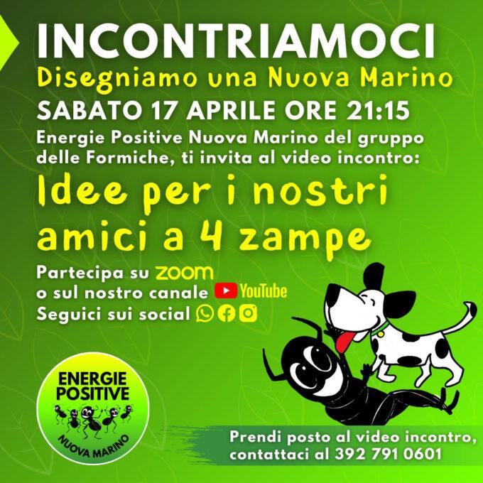 Lista delle formiche invita all'incontro del 17 aprile per parlare di animali domestici a Marino