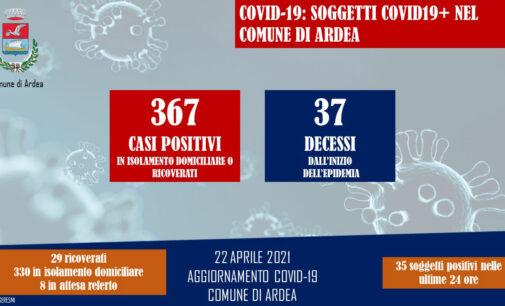 AGGIORNAMENTO COVID-19 COMUNE DI ARDEA 22 APRILE 2021