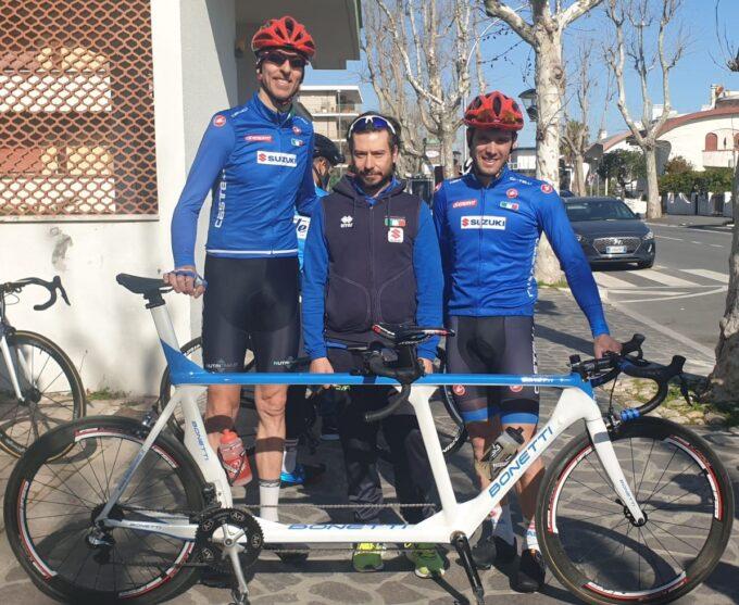 IFI Giant Store Roma: debutto tricolore nel paraciclismo a Marina di Massa per Ivano Pizzi nel tandem con Riccardo Panizza