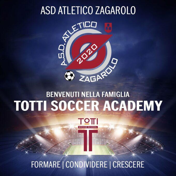 L'Asd Atletico Zagarolo 2020 affiliata alla Totti Soccer School