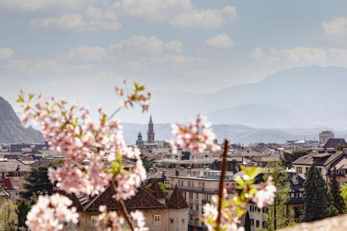 """""""Fiori, arte e bicicletta: Bolzano riparte da qui""""."""
