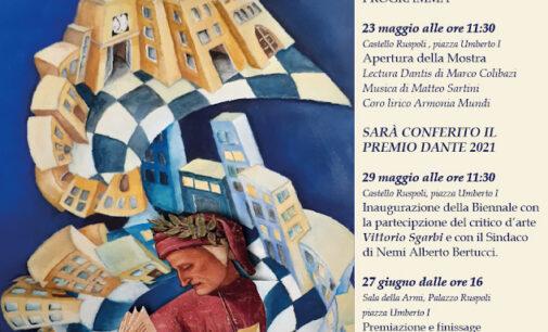 Vittorio Sgarbi alla Biennale Internazionale di Nemi