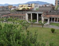 Villa di Poppea, Oplontis.  Zuchtriegel incontra il sindaco di Torre Annunziata