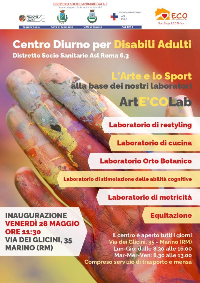 """Si inaugura a Marino il nuovo Centro Diurno  per disabili adulti """"ArtE'COLab"""""""