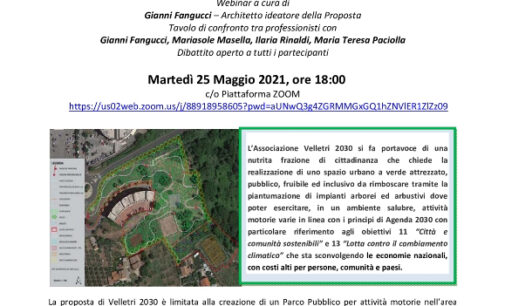 """Velletri – """"Proposta Parco Pubblico zona 167"""