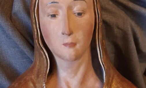 Restaurata la scultura in terracotta della Virgo lactans di Lisciano (Rieti)