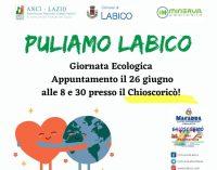 Puliamo il Lazio! Labico aderisce a giornata ecologica Anci