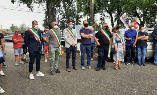 SIT-IN DI PROTESTA PER RIAPERTURA DISCARICA DI ALBANO