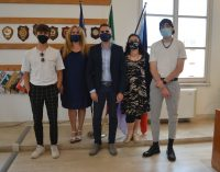 Pomezia – Il Sindaco incontra gli artisti Ser e Leot