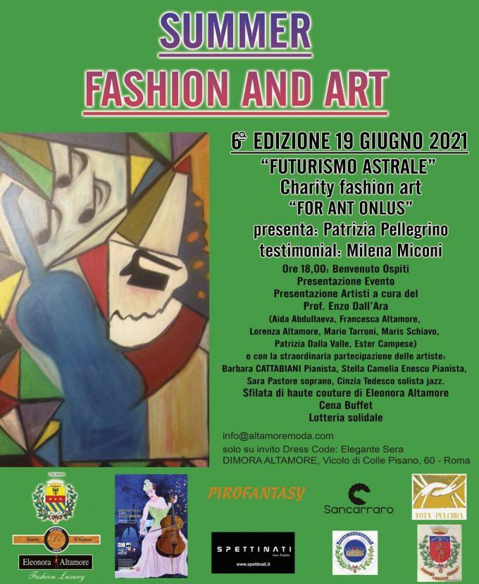 """Gran Galà di Moda,Arte e Solidarietà """"Summer Fashion and Art 2021"""""""
