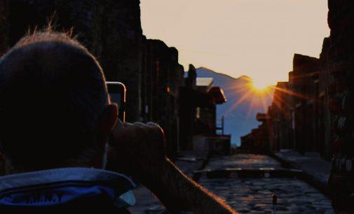 A Pompei per osservare il sorgere del sole