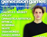 """L'AQUILA: IL 6 GIUGNO SI SVOLGERANNO I """"GENERATION GAMES"""""""