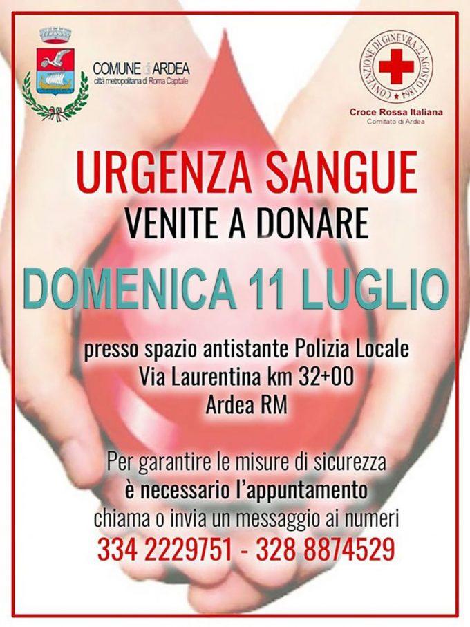 RACCOLTA SANGUE CRI-COMITATO DI ARDEA 11 LUGLIO 2020